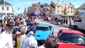 Ferrari Loses Control At Car Show