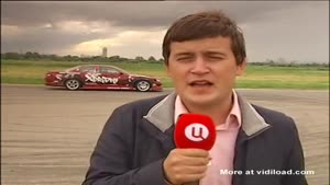 Reporter Gets Hit By Drifting Car