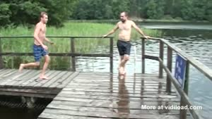 Hesitating Guy Ruins His Dock Jump