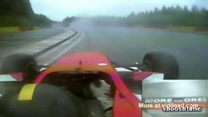Amazing Reflexes Save Racer From Crashing