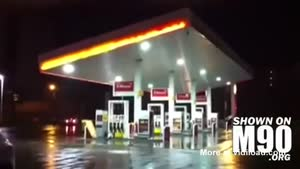 Gas Station Loses Rooftop