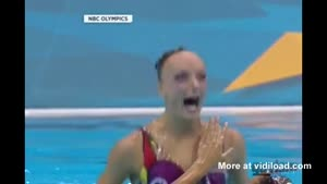 Olympic Swimmer Appears To Be A Zombie