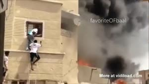 Hero Saves Child From Burning Building