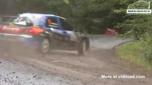 Rally Driver Crashes But Continues Anyway