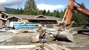 Construction Workers Having Fun