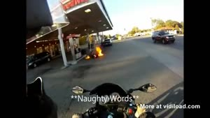 Dude Your Bike Is On Fire