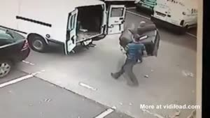 Two Guys Trying To Steal A New Interior