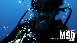 Scuba Diver Gets His Teeth Cleaned
