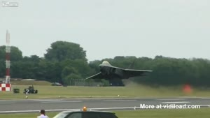 Cool Vertical Take Off By F-22