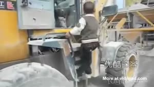 Toddler Learns To Control Excavator