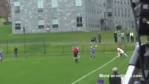 Double Throw-In Headshot At Girls Soccer Game