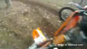Dirtbike Rider Falls On Big Splinter