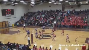 Epic Spike Takes Out Two People At Once