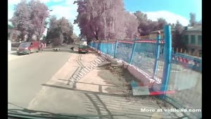 Speeding Biker Forgets About Speed Bumps