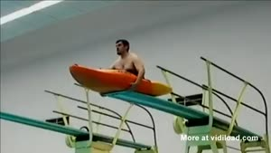 Kayak Dive From Diving Board