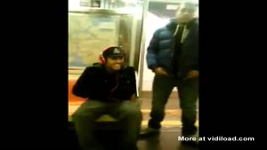 Guy Steals Headphones On The Subway