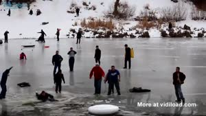 Group Sinks Through Thin Ice