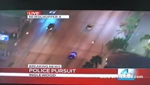 Surprise While Watching Live Police Chase