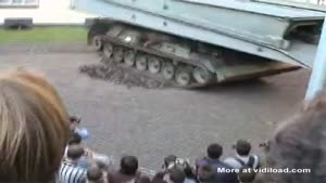 Panzer Tank Destroys The Road