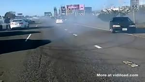 Doing Donuts On The Highway
