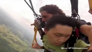 Paragliding Scares The Shit Out Of Kid