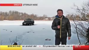 Reporter Loses Car In Snow