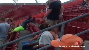 Drunk Falls Down Bleachers