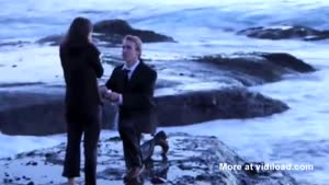 Marriage Proposol Interrupted By Giant Wave