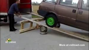 Loading A Car Doesn't Quite Go As Planned