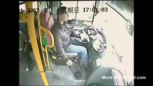 Chinese Bus Driver Survives Insane Crash