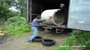 This Is Not How You Unload A Concrete Pipe