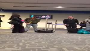 Drunk Guy Collapses At The Airport