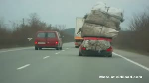 Extremely Overloaded Car