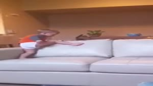 Aggressive Toddler Goes Crazy On Couch