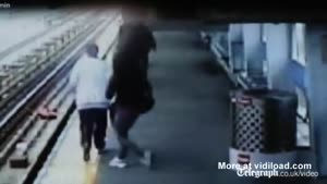 Baby Falls Off The Platform
