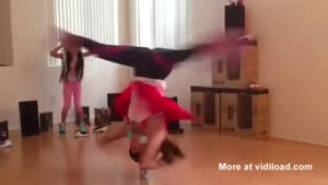 Girl Breakdancing On Soda Can