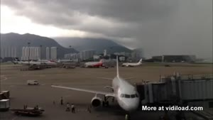 Rainstorm Passing Airport
