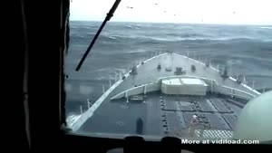 Navy Ship Bashes Against Giant Wave