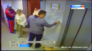 Russian Man Saves Dog Caught In Elevator Door