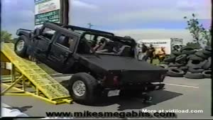 How No To Ride A Hummer On To A Ramp