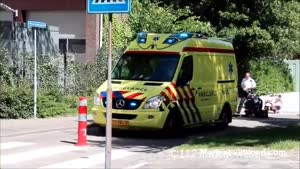 Dutch Ambulance VS Pole In The Road