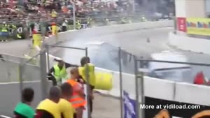 Bystander KO'd By Barrel At Drift Race