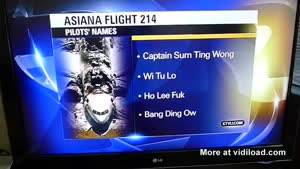 News Station Pranked With Fake Pilot Names