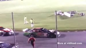 Angry Driver Gets Dragged By Racing Car