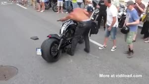 Biker Has Embarrassing Crash