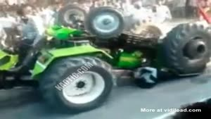Guy Gets Stuck Under Tractor During Race