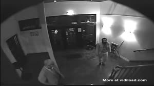 Drunk Guy Exits Bar