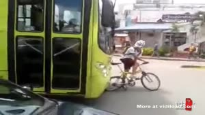 Annoying Bicyclist Gets Owned By Bus