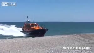 Unusual Manouvre Carried Out By Rescue Boat