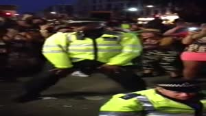 Police Officers Battle Each Other